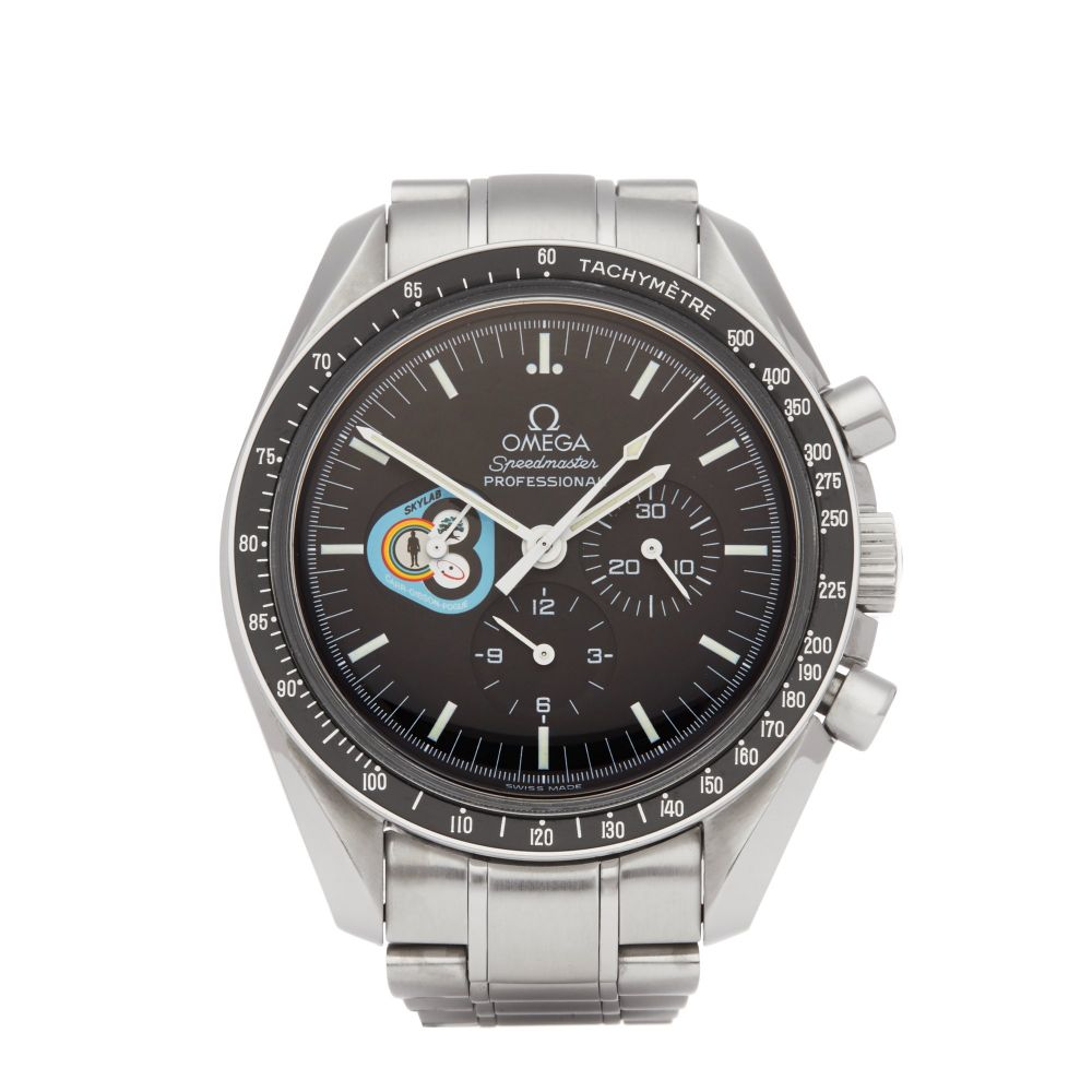 """Luxury Watches I Featuring a Special Edition, Omega Speedmaster Missions """"Skylab"""" Stainless Steel Watch."""