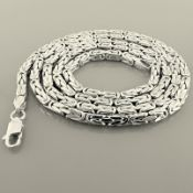 62 cm (24.4 in) Byzantine Chain Necklace. In 14K White Gold
