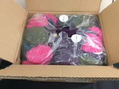 new stock 24 pairs of indoor slippers with pom-poms
