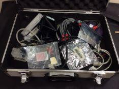 metal case containing agilent equipment