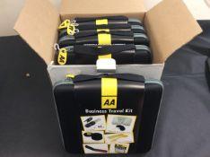 new stock box of 5 aa business travel kits