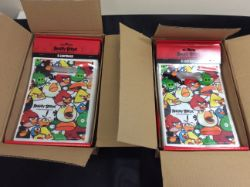 new stock 36 packets of 8 angry birds loot bags in 2 boxes