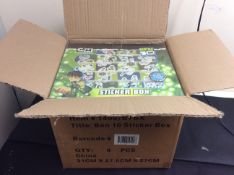new stock box of 8 ben10 sticker boxes containing 200 reuseable stickers