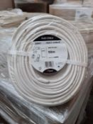 (WG3) Pallet To Contain 18 x Brand New Sealed Nexans 50M (4x0.75mm2) Flex Heat Cable. RRP £43....