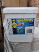 (WG2) Pallet To Contain 150 x Brand New Boxed Broadfix Assorted Levelling Pail (200 Per Box). R...
