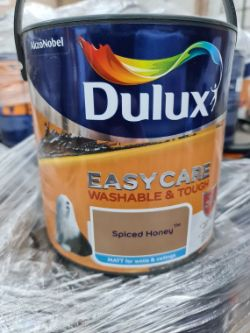 (WG7) Pallet To Contain 55 x New Sealed 2.5L Dulux Easy Care Washable & Touch Spiced Honey Pai...