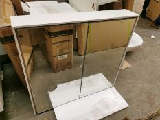 750 x 700mm LED Mirrored Cabinet