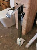 Chrome Designer Floor Tap Unit RRP £249
