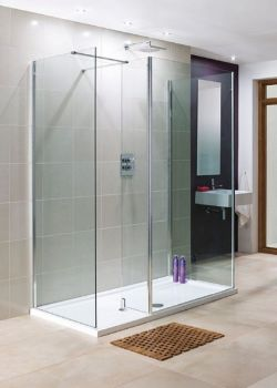 1200mm Walk-In Shower Glass RRP £209