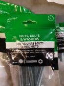 100 packs - 75mm coach bolts and nuts