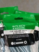 100 packs - 6x75mm coach bolts and nuts