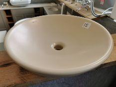 ISVEA 1962 Italia Designer Cream Ceramic Washbowl Basin RRP £329