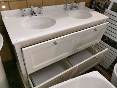 Bayswater Designer His & Hers Marble-Top Vanity Sink Unit RRP £2849 BNIB