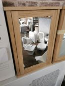 Laura Ashley Marlborough Solid Oak Mirrored Bathroom Cabinet RRP £349