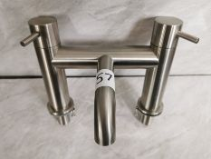 Stainless Steel Finish Bath Filler Tap Unit RRP £329