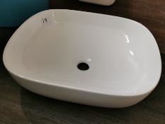 Modern White Ceramic Washbowl RRP £229