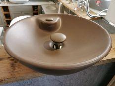 ISVEA 1962 Italia Designer Taupe Ceramic Washbowl Basin RRP £399