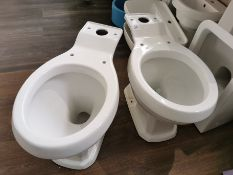 Pair of Traditional Closed Couple Toilet Pans RRP £279