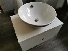 Deep Wall-Hung One Drawer Unit w/Washbowl Basin RRP £289 BNIB