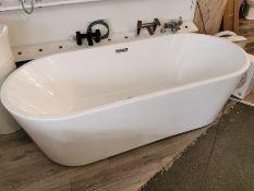 Modern Double Acrylic Freestanding Bath RRP £1089 BNIB