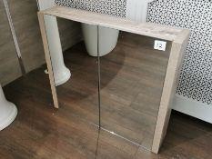 Light Ash Mirrored Bathroom Cabinet RRP £349