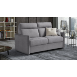 'AIMEE' Italian Crafted 3 Seat Sofa Bed in PLAZA SILVER RRP £1979