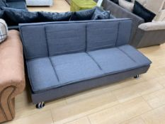 Brand new boxed LF - 377 grey leather click clack sofa bed