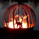 Deer - Steel Fire Pit Sphere