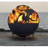 Drakaris Dragon Steel Fire Pit Sphere