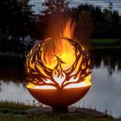 Pheonix Steel Fire Pit Sphere