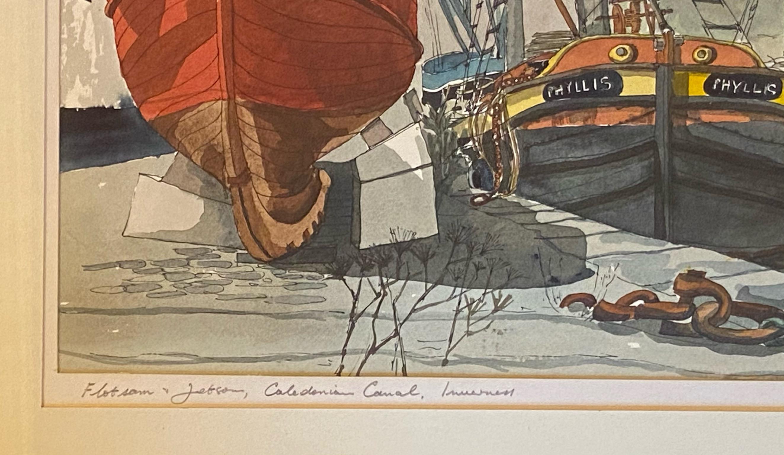 """""""Flotsam and Jetsam"""" by James Steel Scottish artist active 1980's - 2010 FRTPI - Image 3 of 3"""