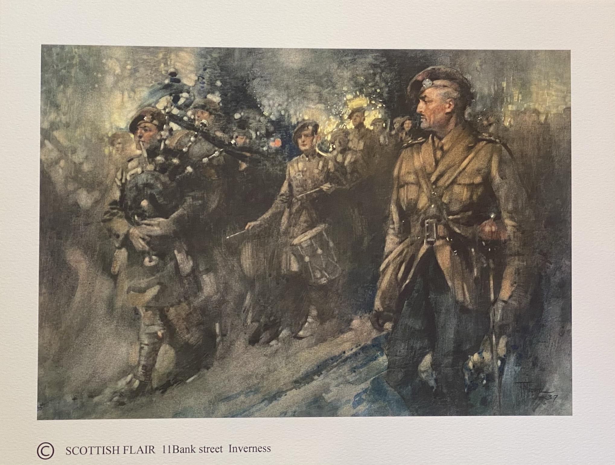 "Thomas Hutchinson Peddie 1871-1954 print ""Highland regiment"" - Image 2 of 3"