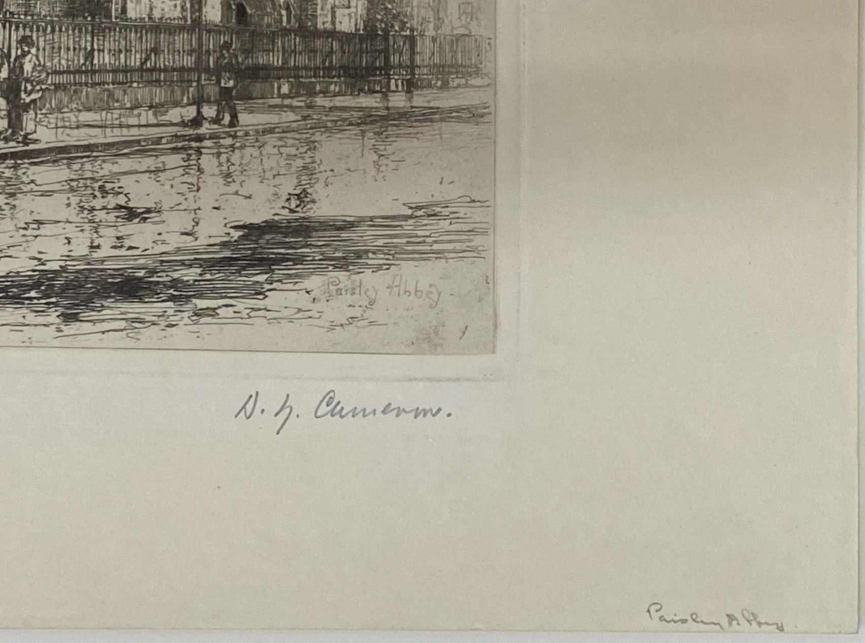"""David Young Cameron signed etching """"Paisley Abbey"""" - Image 5 of 5"""
