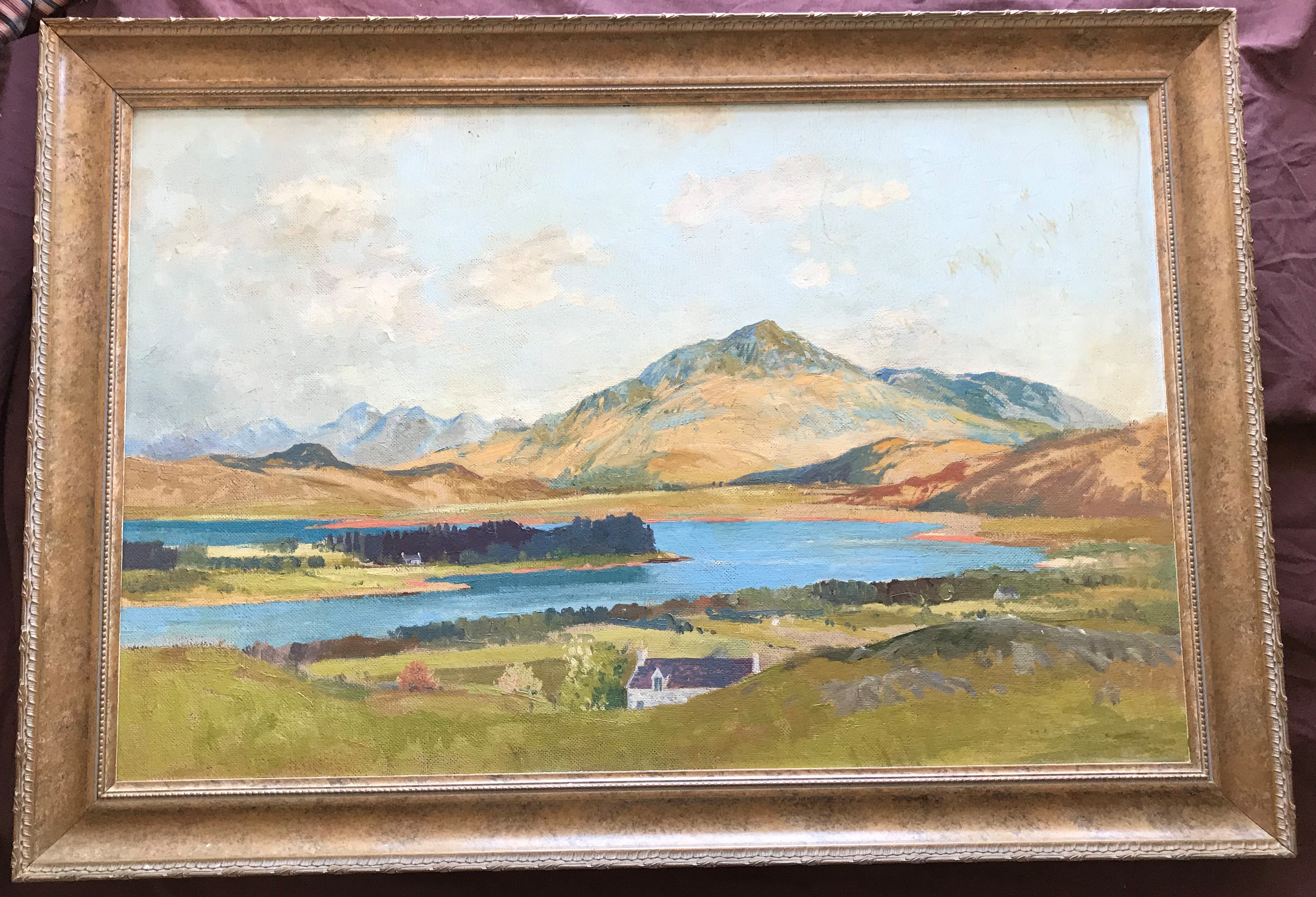 Scottish oil painting Beinn Respoil and Loch Shiel by Tom Hovell Shanks RSW, RGI, PIA - Image 2 of 4