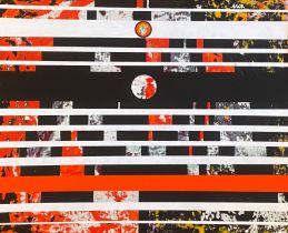Kennedy abstract mixed media