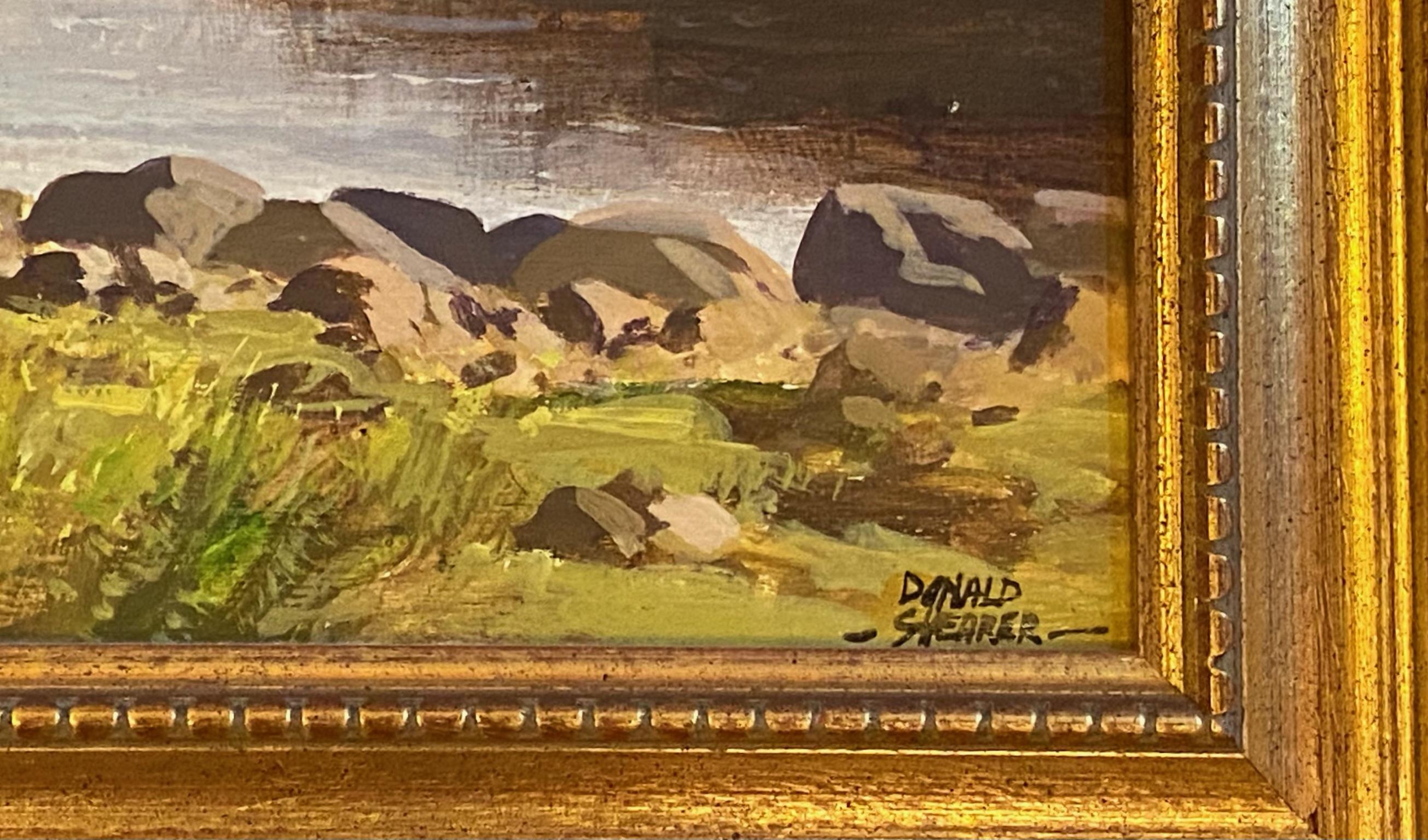 "Donald M Shearer (Scottish) Original signed oil Scottish View ""Loch Morlich"" Donald - Image 5 of 5"