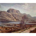 "Donald M Shearer (Scottish) Original signed oil Scottish View ""Loch Maree"""