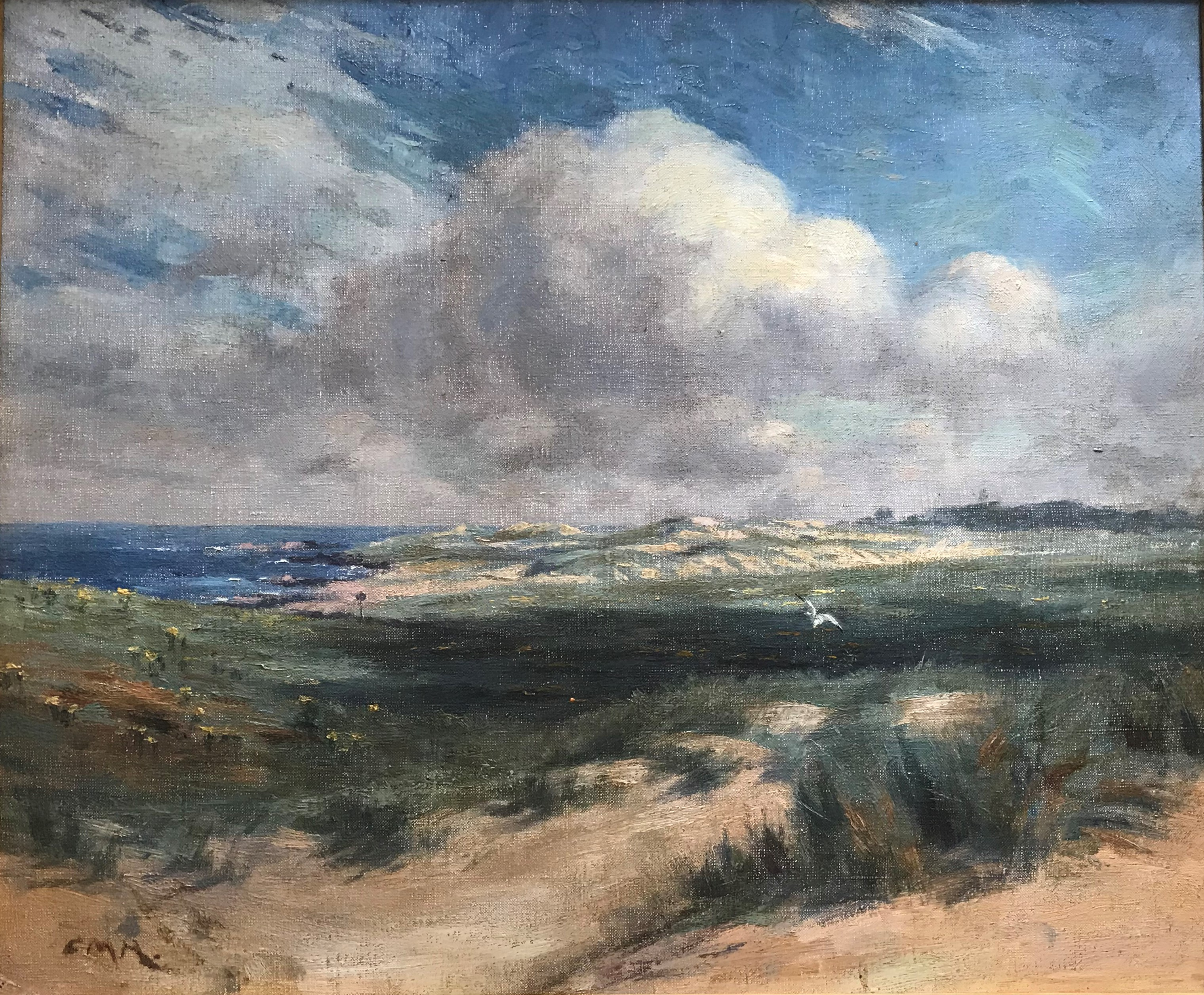 Charles Martin Hardie 1858-1916 ARSA 1886, RSA 1895, Oil, Iona Coastline