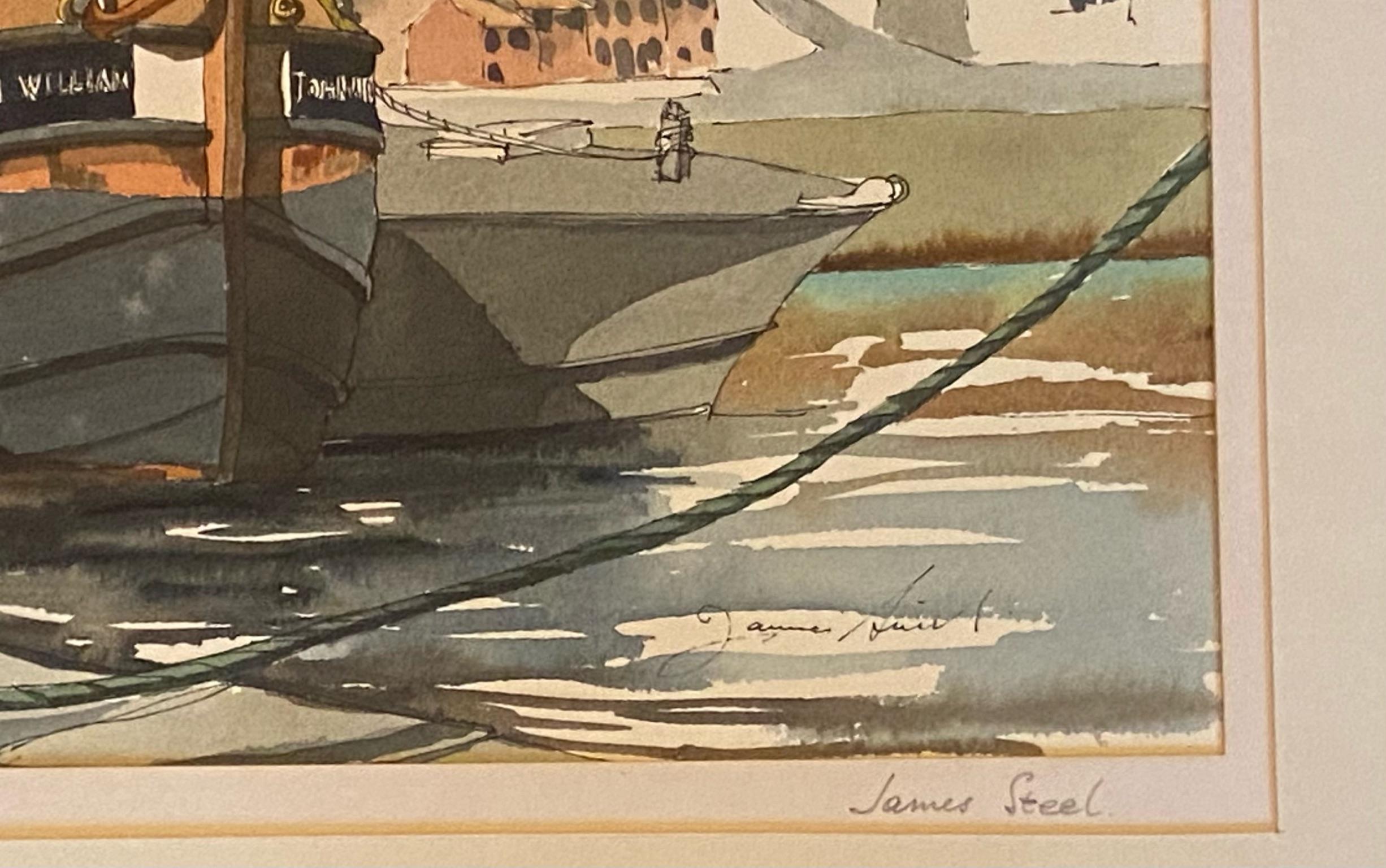 """""""Flotsam and Jetsam"""" by James Steel Scottish artist active 1980's - 2010 FRTPI - Image 2 of 3"""