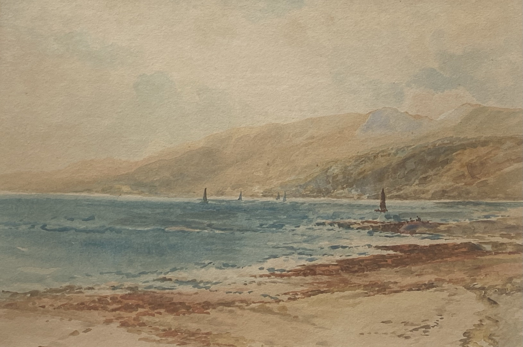 """James Morris (Scottish 1857-1942) signed watercolour """"Sound of Mull """""""