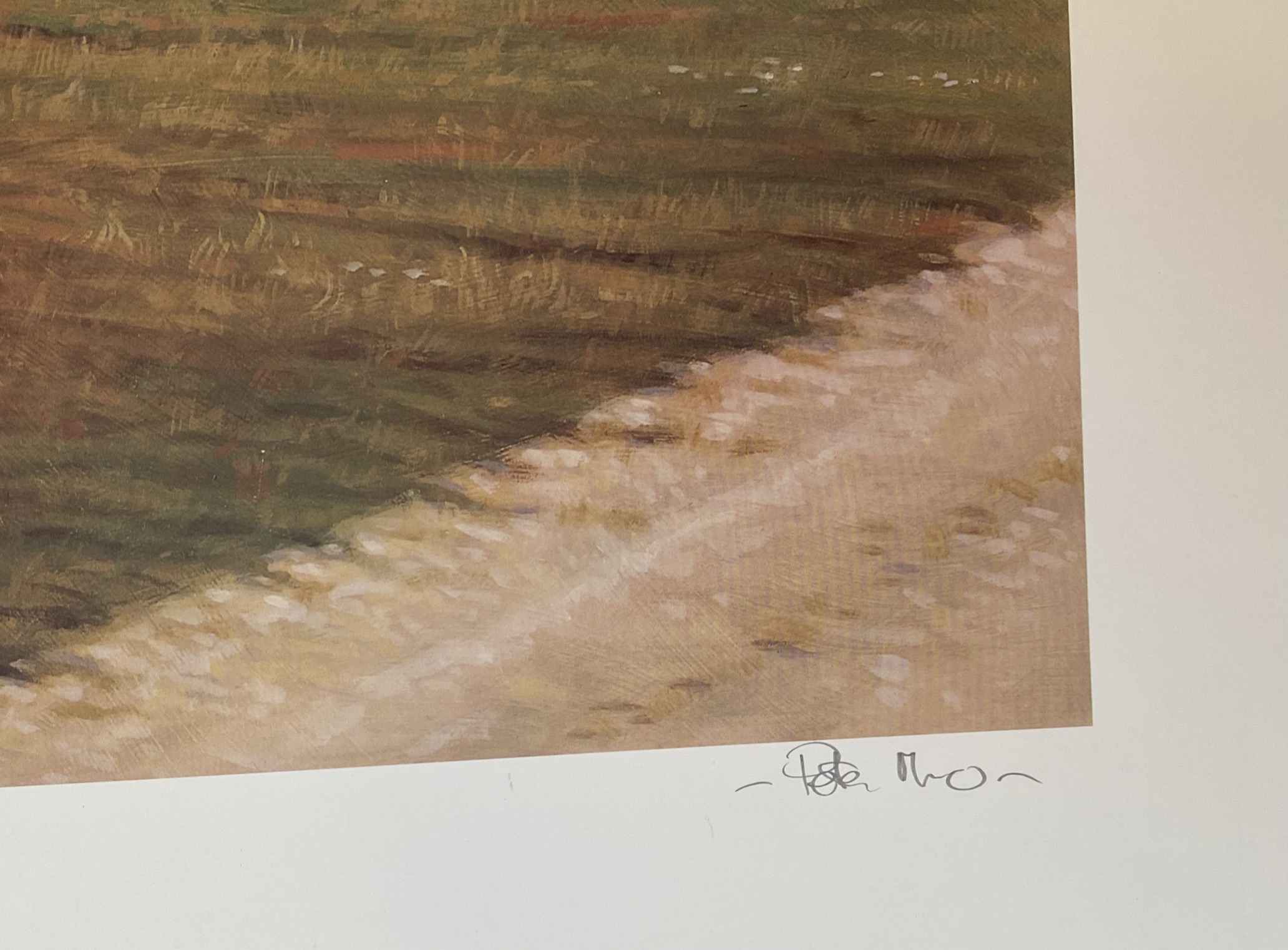 Carnoustie 14th golfing print signed A/P by Scottish artist Peter Munro - Image 3 of 4