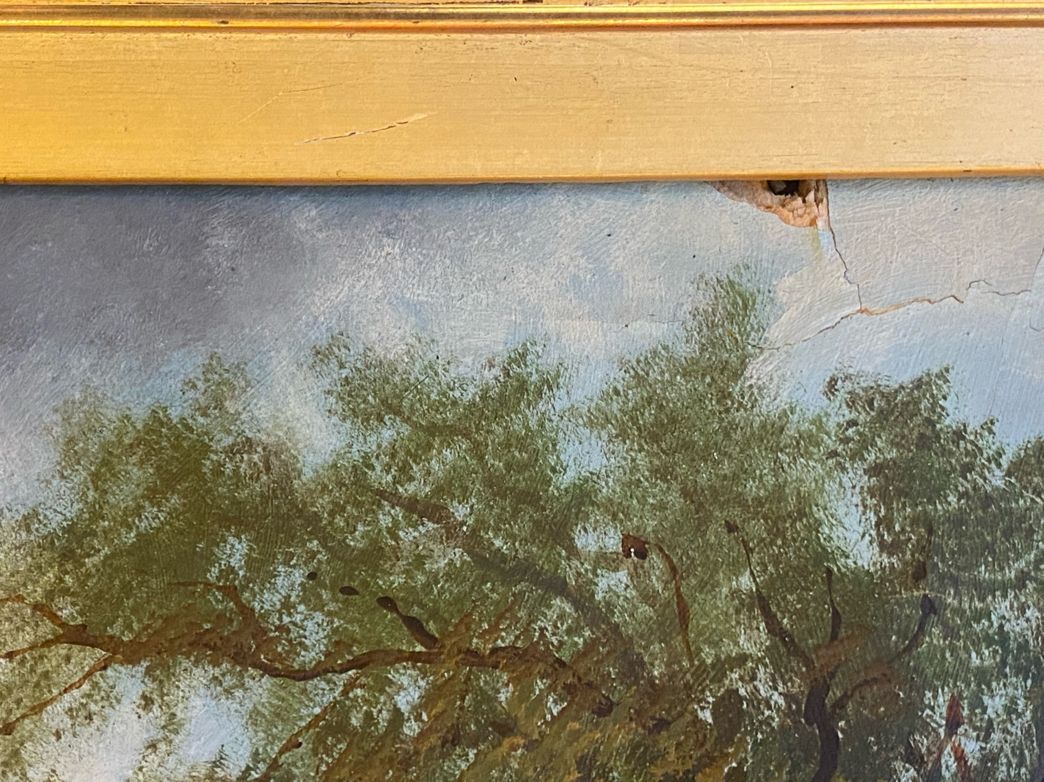 T Sayer signed oil painting For restoration - Image 3 of 4
