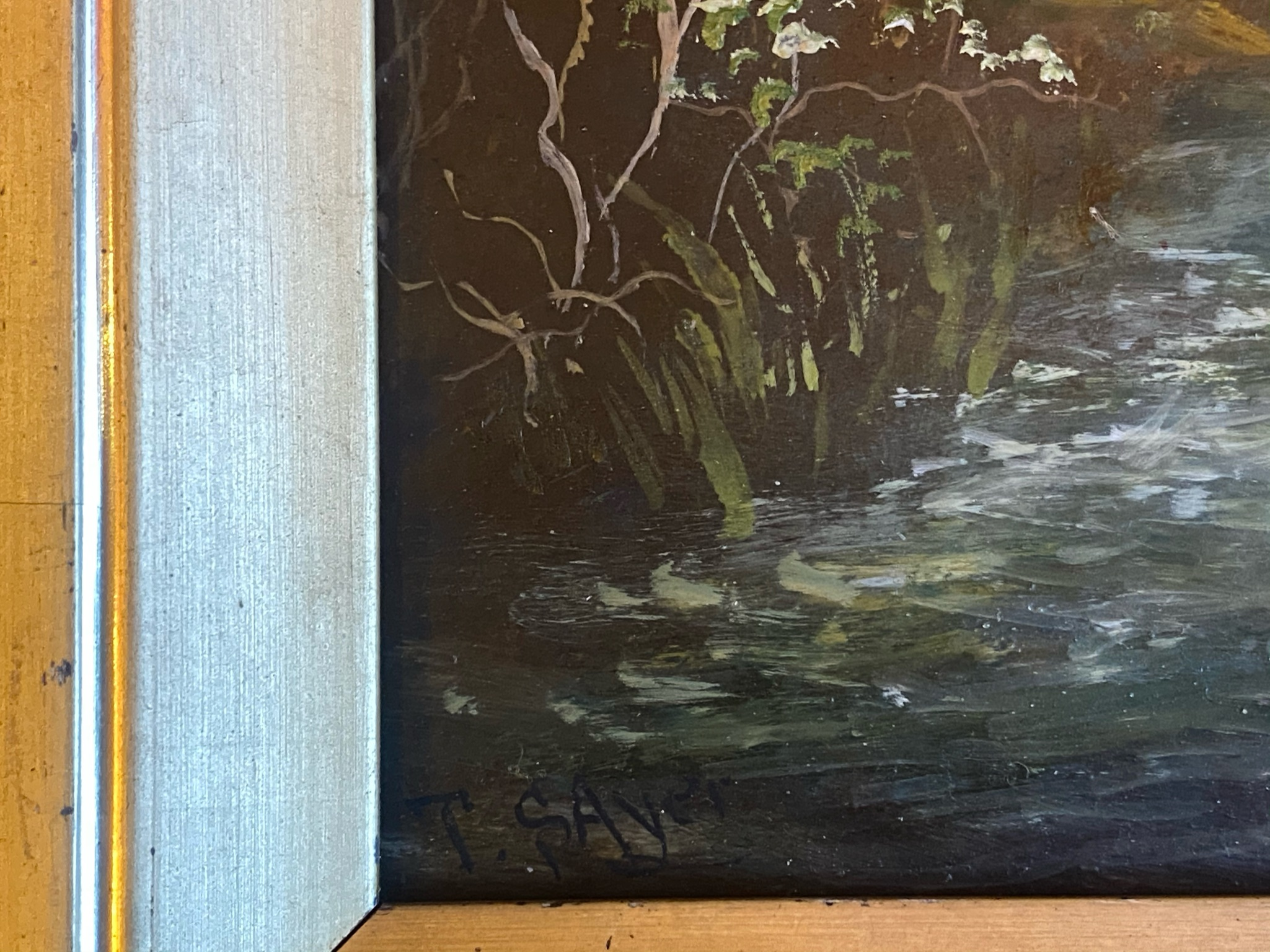 T Sayer signed oil painting For restoration - Image 4 of 4