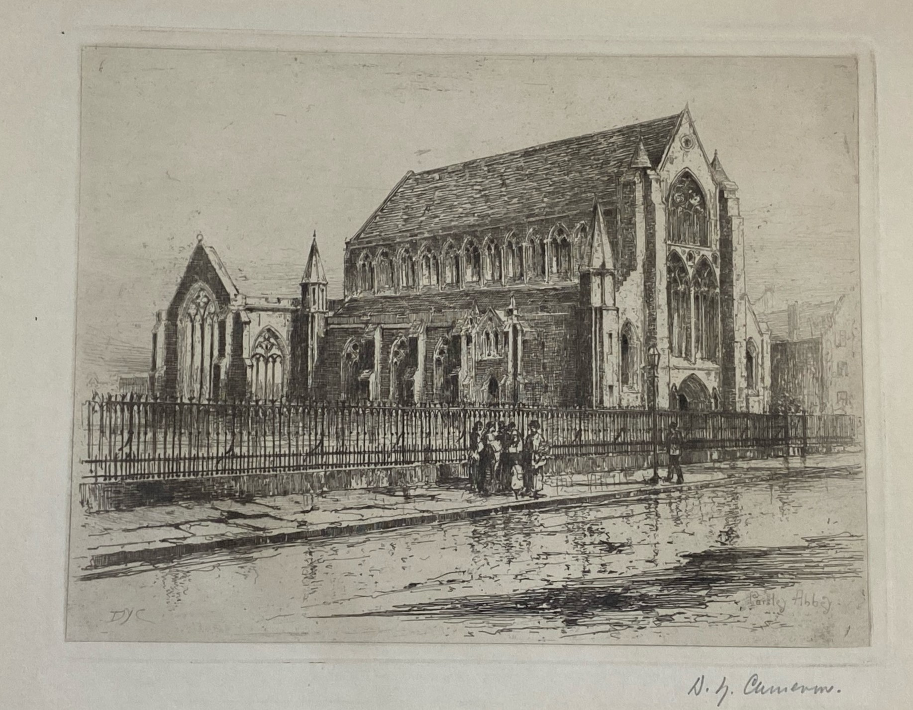 """David Young Cameron signed etching """"Paisley Abbey"""" - Image 3 of 5"""
