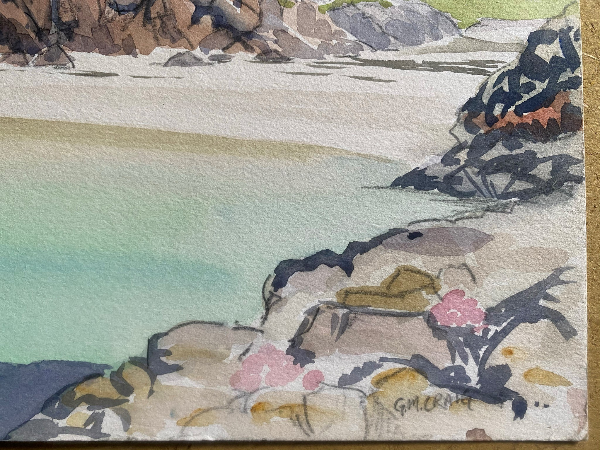 Watercolour signed G. M. Craig, (Gertrude Mary) Port Ban Iona - Image 2 of 3