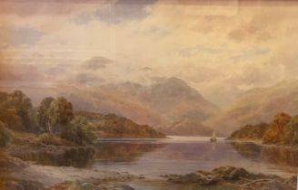 "Alfred Powell signed watercolour ""Glen Venue"""