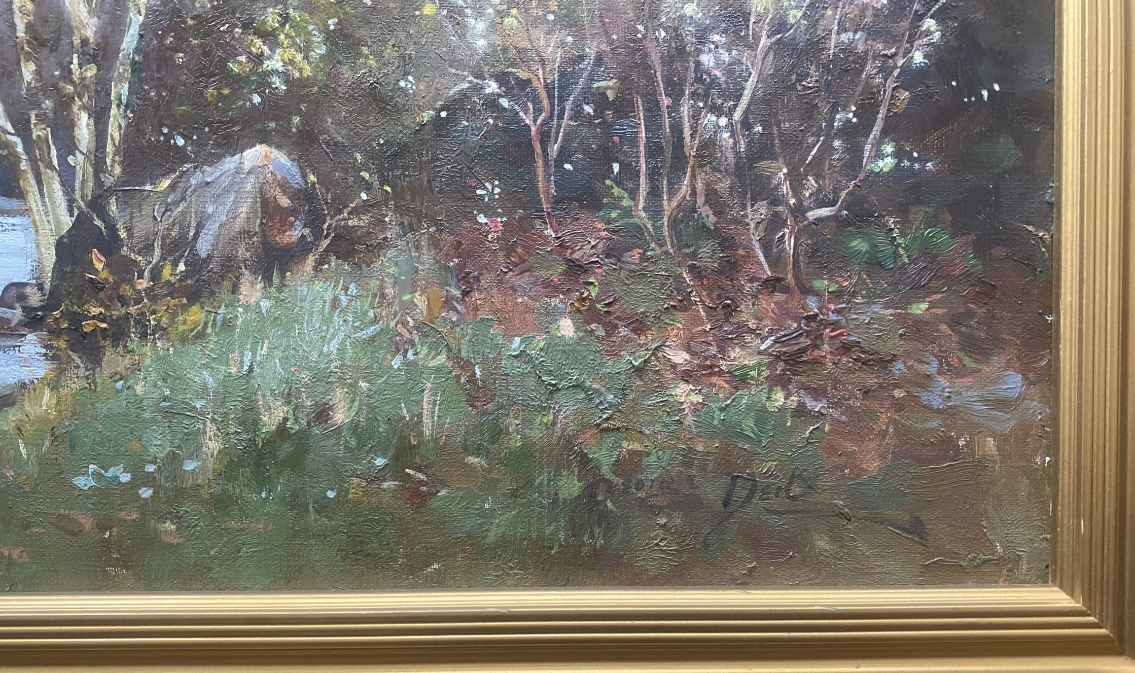 """George Neil Scottish signed oil painting """"country stream"""" - Image 3 of 4"""