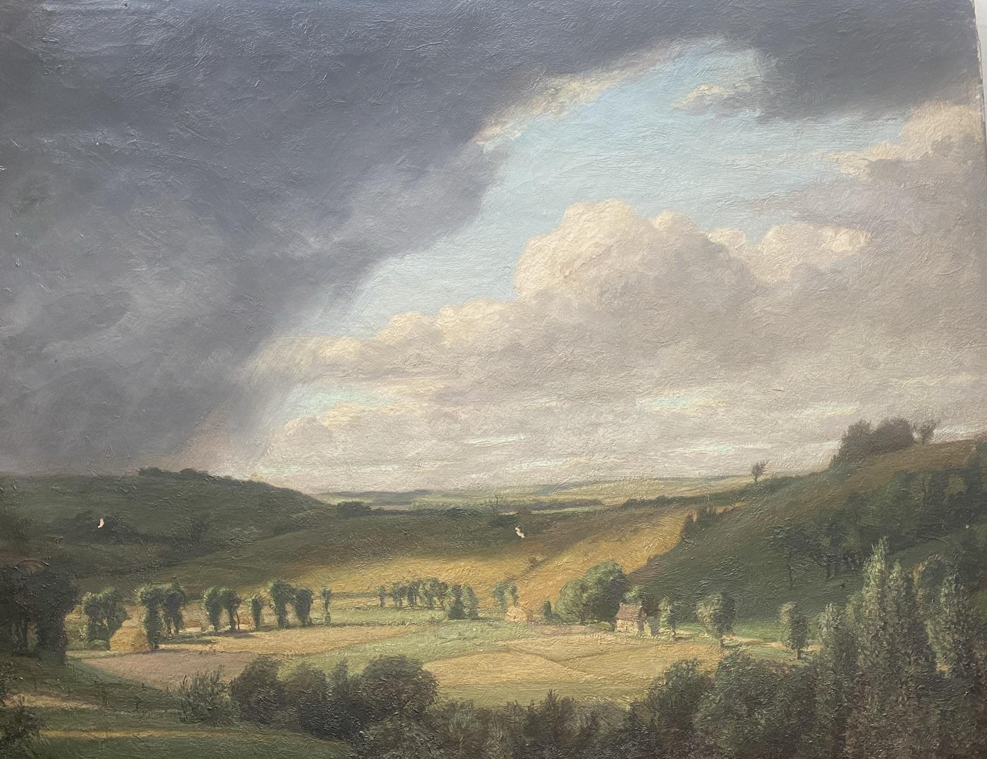 Elliot Seabroke 1886-1950 large signed original oil English Valley