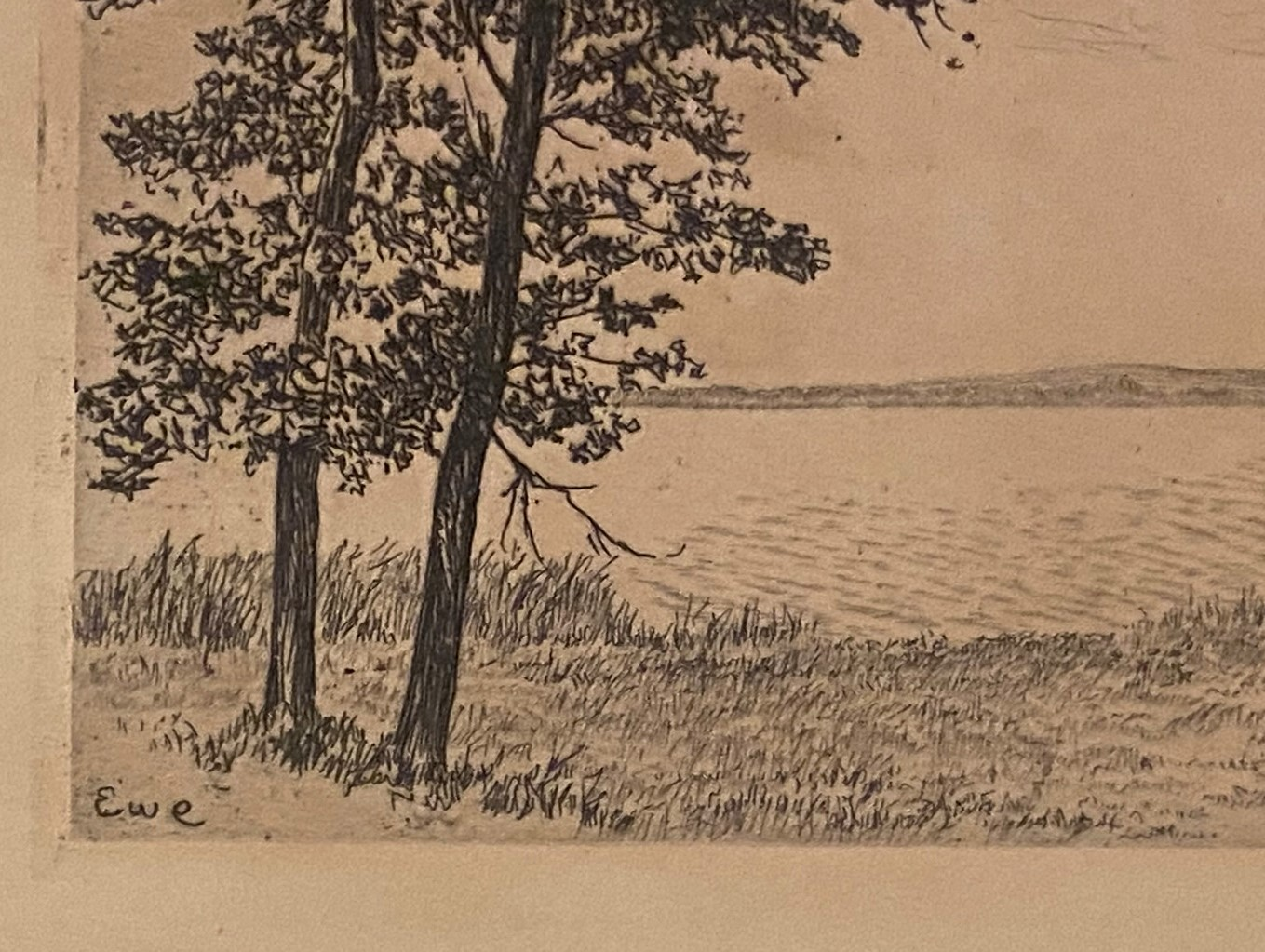 Etching Scottish Highland loch scene indistinctly signed in pencil - Image 2 of 3