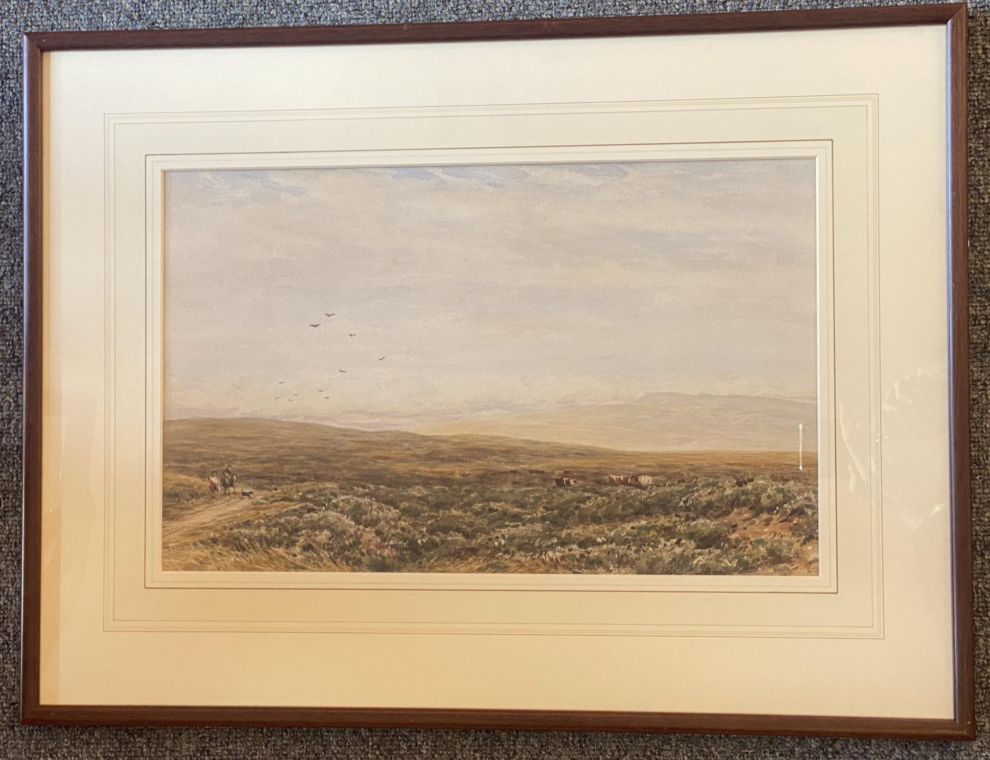 James Orrock RI ROI (1829-1913) signed watercolour Moorland - Image 2 of 3